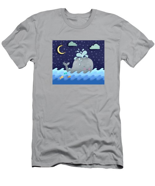 One Wonderful Whale With Fabulous Fishy Friends Men's T-Shirt (Slim Fit) by Little Bunny Sunshine