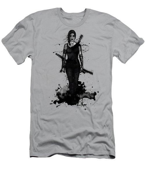 Men's T-Shirt (Slim Fit) featuring the digital art Onna Bugeisha by Nicklas Gustafsson