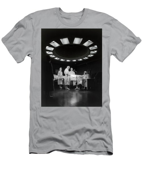 Men's T-Shirt (Slim Fit) featuring the photograph Operating Room Theater 1933 by Daniel Hagerman