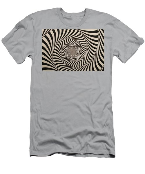 Optical Illusion Beige Swirl Men's T-Shirt (Athletic Fit)