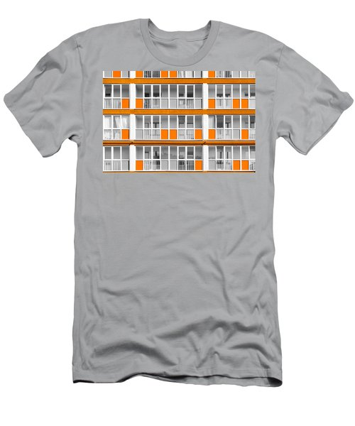 Orange Exterior Decoration Details Of Modern Flats Men's T-Shirt (Slim Fit) by John Williams