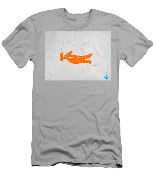 Orange Plane Men's T-Shirt (Athletic Fit)