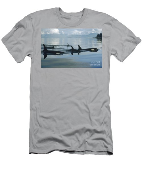 Orca Pod Johnstone Strait Canada Men's T-Shirt (Athletic Fit)