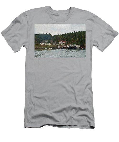 Orcas Island Dock Digital Men's T-Shirt (Athletic Fit)