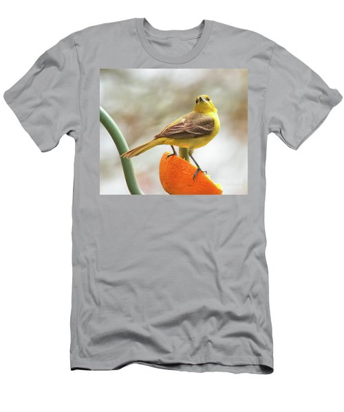 Men's T-Shirt (Athletic Fit) featuring the photograph Orchard Oriole by Debbie Stahre
