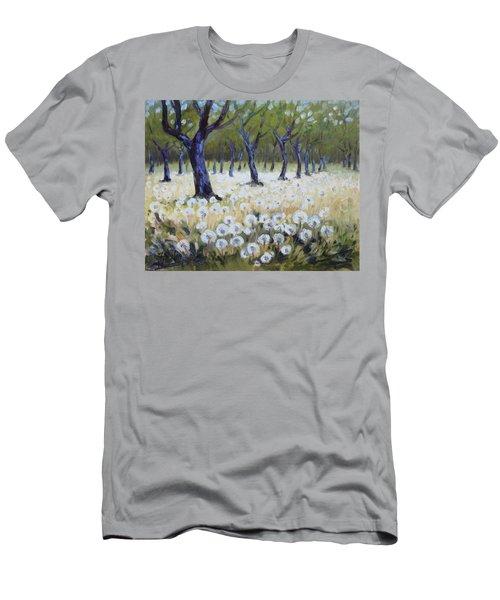 Orchard With Dandelions Men's T-Shirt (Slim Fit) by Irek Szelag