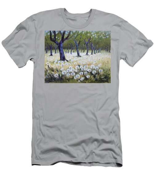 Orchard With Dandelions Men's T-Shirt (Slim Fit)