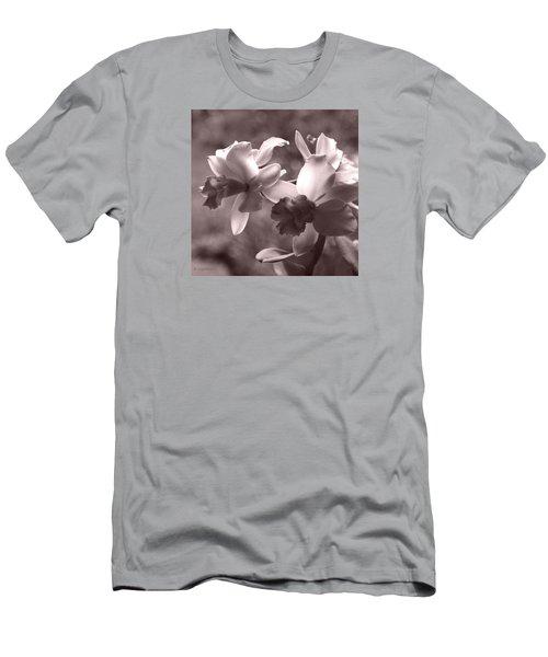 Orchid Dream - Square Men's T-Shirt (Slim Fit) by Kerri Ligatich