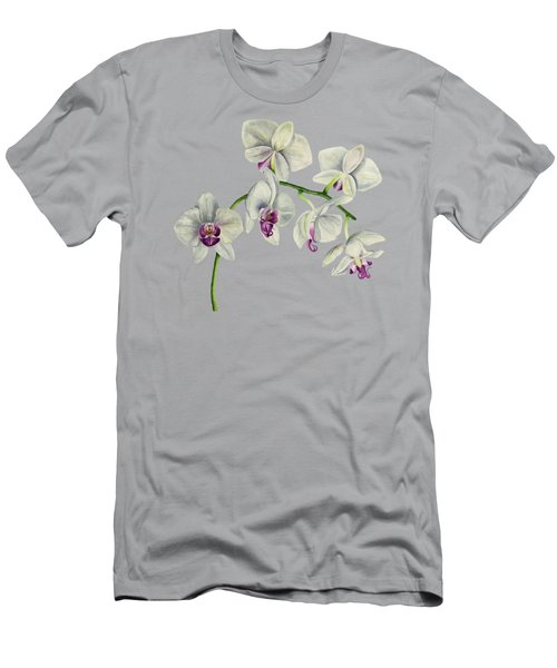 Orchid Watercolor Painting Men's T-Shirt (Athletic Fit)