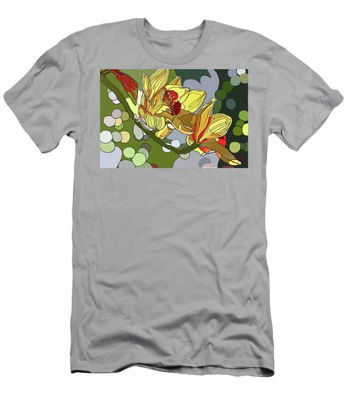 Orchids In Sunlight Men's T-Shirt (Slim Fit) by Jamie Downs