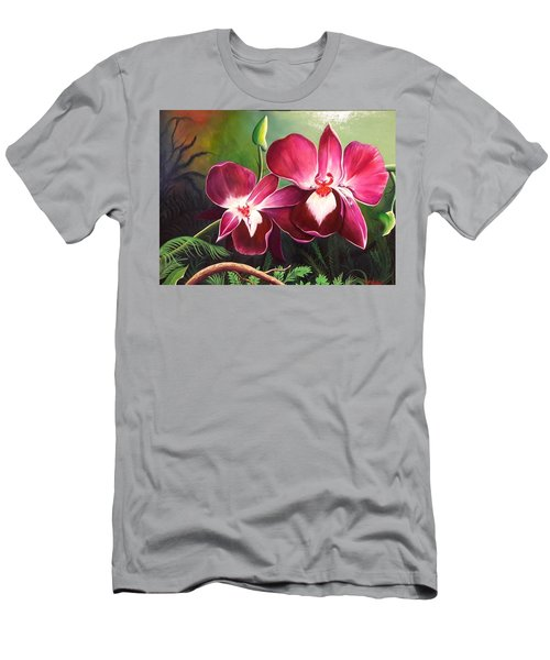 Orchids In The Night Men's T-Shirt (Athletic Fit)