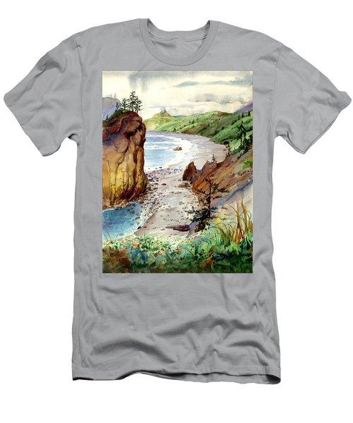 Oregon Coast #3 Men's T-Shirt (Slim Fit) by John Norman Stewart