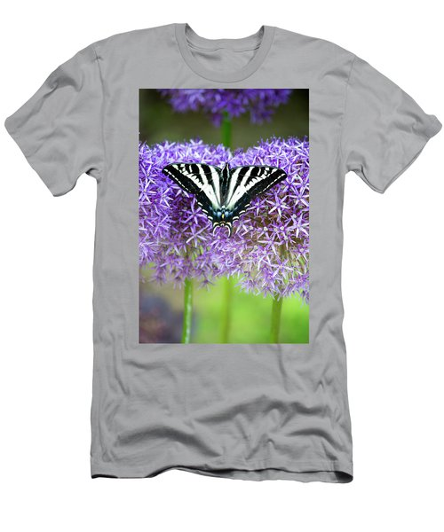 Men's T-Shirt (Slim Fit) featuring the photograph Oregon Swallowtail by Bonnie Bruno