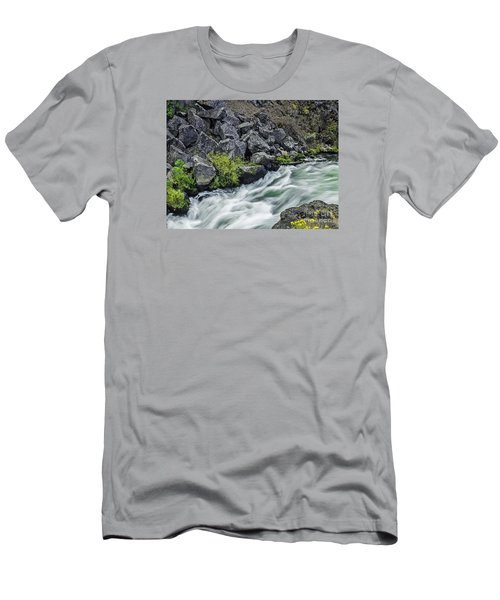 Oregon's Dillon Falls Men's T-Shirt (Slim Fit) by Nancy Marie Ricketts