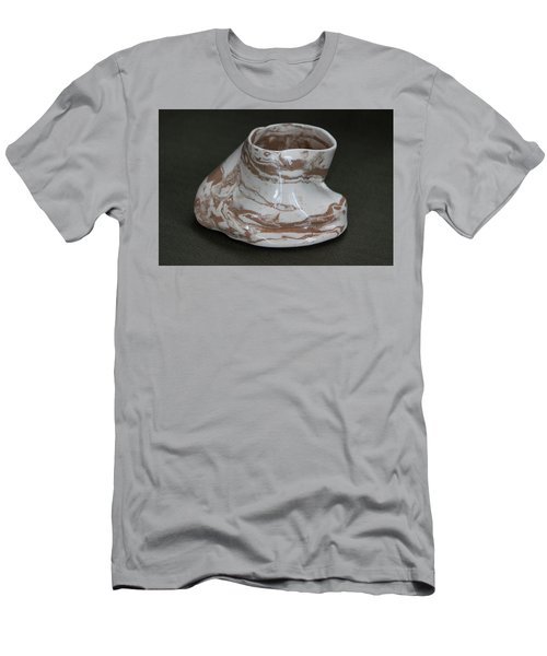 Organic Marbled Clay Ceramic Vessel Men's T-Shirt (Slim Fit) by Suzanne Gaff