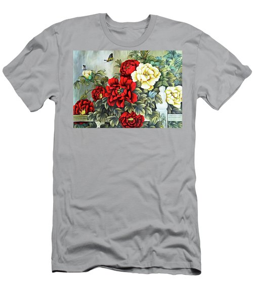Men's T-Shirt (Slim Fit) featuring the photograph Oriental Flowers by Munir Alawi