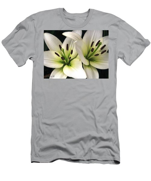 Oriental Lily Named Endless Love Men's T-Shirt (Slim Fit) by J McCombie