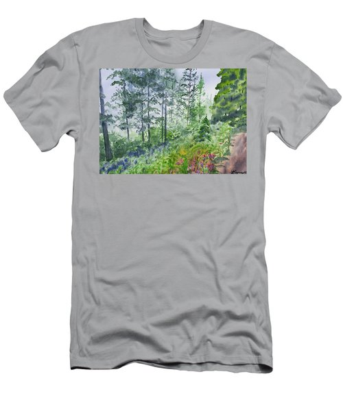Original Watercolor - Summer Pine Forest Men's T-Shirt (Athletic Fit)