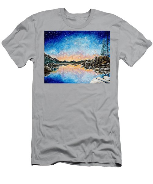 Orion Over Tahoe Winter Men's T-Shirt (Slim Fit) by Matt Konar