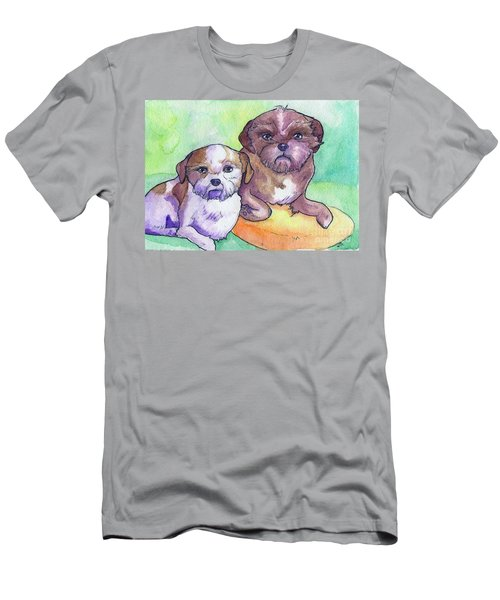 Oscar And Max Men's T-Shirt (Slim Fit) by Whitney Morton