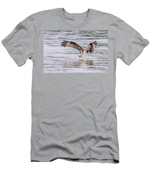 Men's T-Shirt (Athletic Fit) featuring the photograph Osprey Going For Breakfast by Lori Coleman
