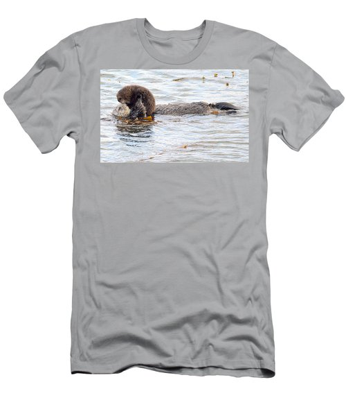 Otter Love Men's T-Shirt (Slim Fit) by AJ Schibig