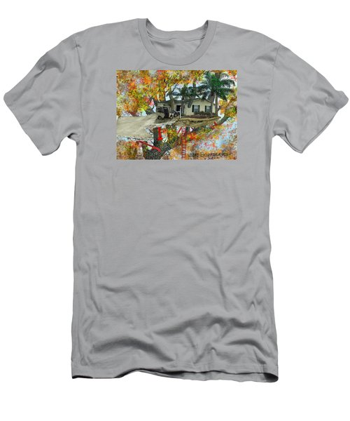 Men's T-Shirt (Slim Fit) featuring the drawing Our Tree House by Jim Hubbard
