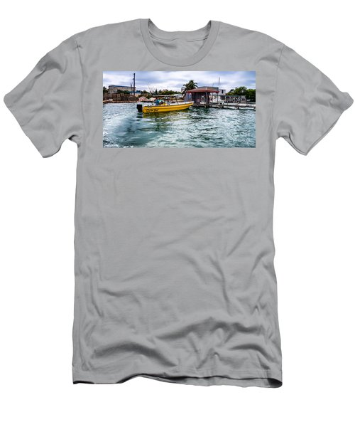 Men's T-Shirt (Slim Fit) featuring the photograph Out On Bail by Lawrence Burry
