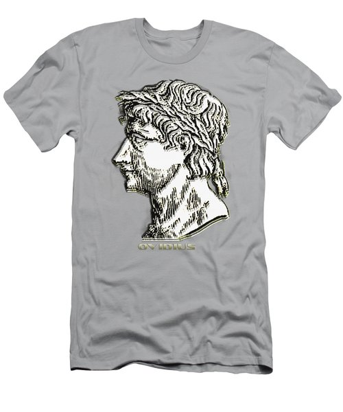 Men's T-Shirt (Slim Fit) featuring the digital art Ovid by Asok Mukhopadhyay