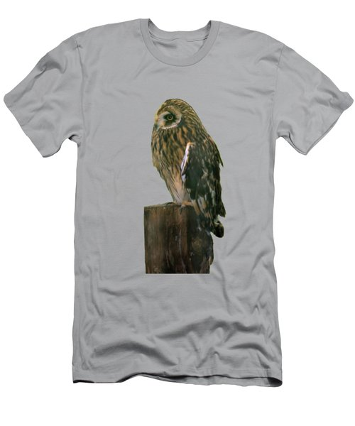 Owl Men's T-Shirt (Slim Fit) by Pamela Walton