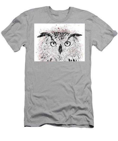 Owl Sketch Pen Portrait Men's T-Shirt (Athletic Fit)