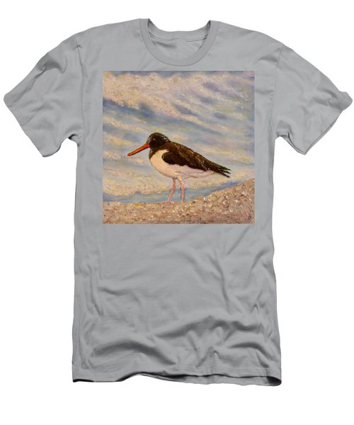 Men's T-Shirt (Slim Fit) featuring the painting Oyster Catcher by Joe Bergholm