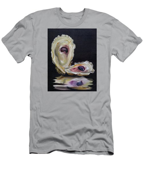 Oyster Shell Reflections Men's T-Shirt (Slim Fit) by Phyllis Beiser