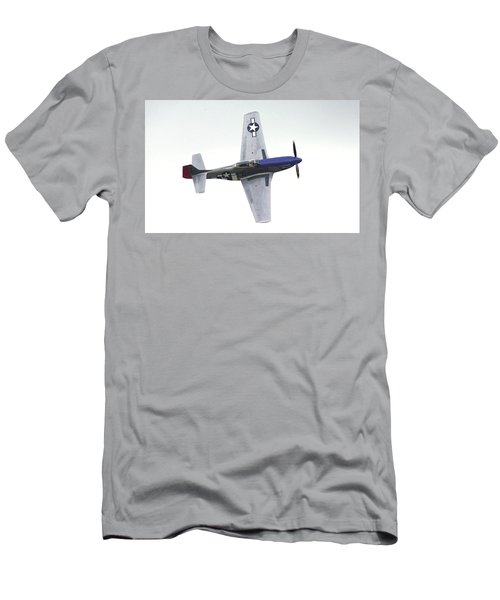 P-51 D Wing Over Men's T-Shirt (Athletic Fit)