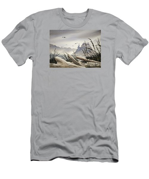 Pacific Northwest Driftwood Shore Men's T-Shirt (Athletic Fit)