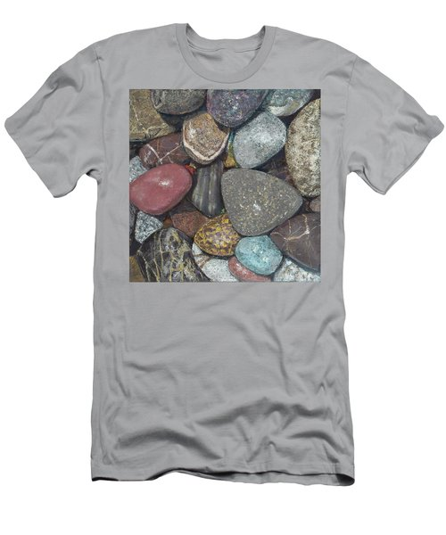 Pacific Nw Beach Rocks Men's T-Shirt (Athletic Fit)
