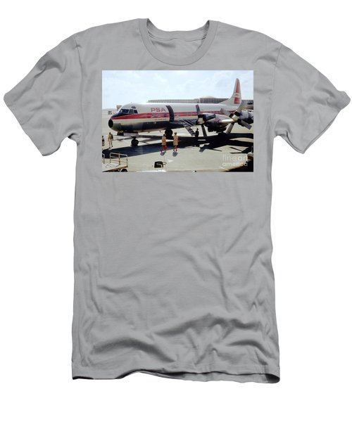 Pacific Southwest Airlines Lockheed L-188c, N376ps Men's T-Shirt (Athletic Fit)