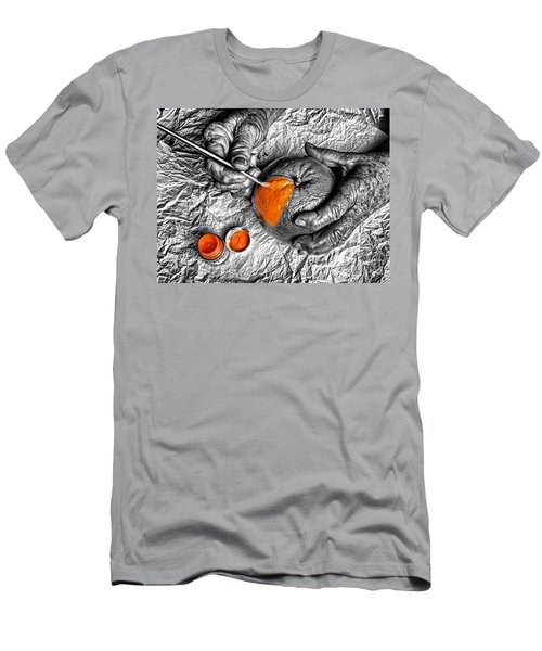 Men's T-Shirt (Slim Fit) featuring the photograph Paint An Orange by Trena Mara
