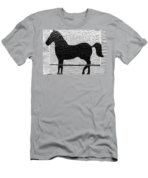 Men's T-Shirt (Slim Fit) featuring the photograph Painted Black - Stone Pony by Colleen Kammerer