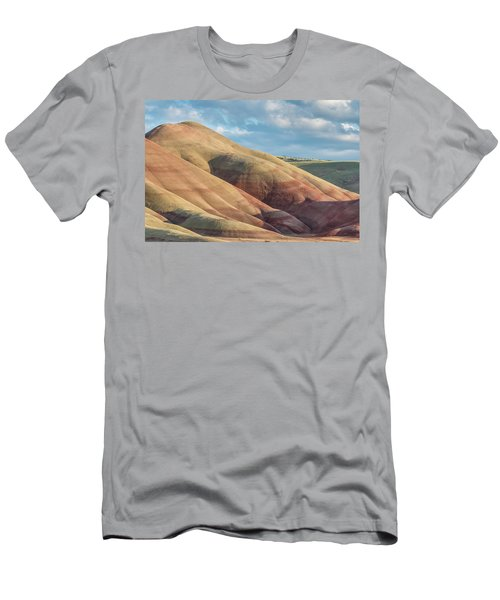 Painted Hill And Clouds Men's T-Shirt (Slim Fit) by Greg Nyquist