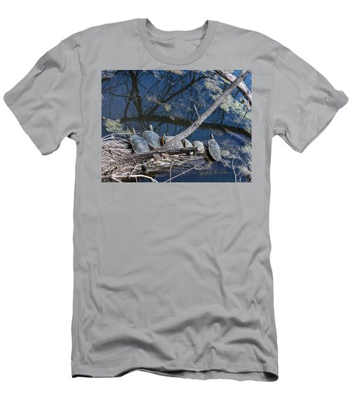 Painted Turtle Dance Line Men's T-Shirt (Slim Fit) by Edward Peterson