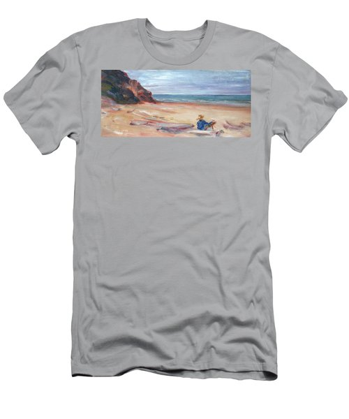 Painting The Coast - Scenic Landscape With Figure Men's T-Shirt (Athletic Fit)