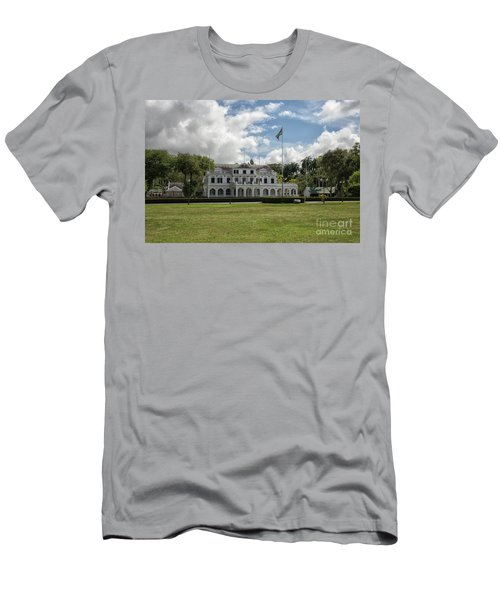Palace Of President In Paramaribo Men's T-Shirt (Slim Fit) by Patricia Hofmeester