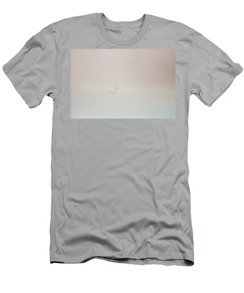 Men's T-Shirt (Athletic Fit) featuring the photograph Pale Outline In The Fog by Davor Zerjav