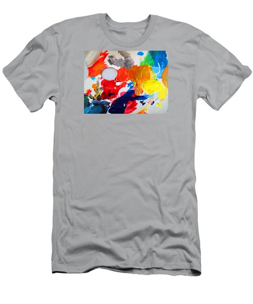 Men's T-Shirt (Slim Fit) featuring the photograph Palette by Barbara McDevitt