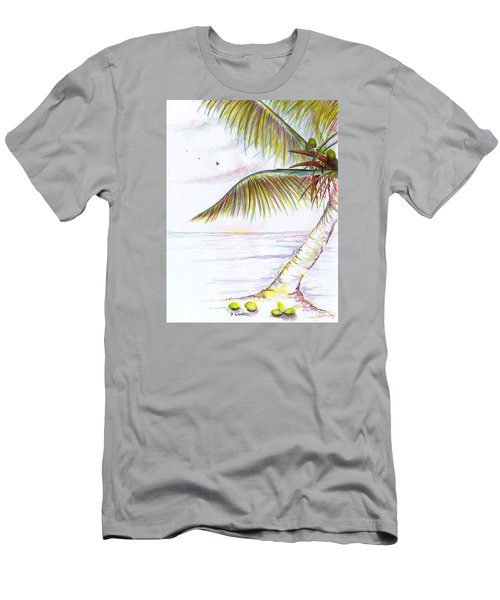 Palm Tree Study Three Men's T-Shirt (Athletic Fit)