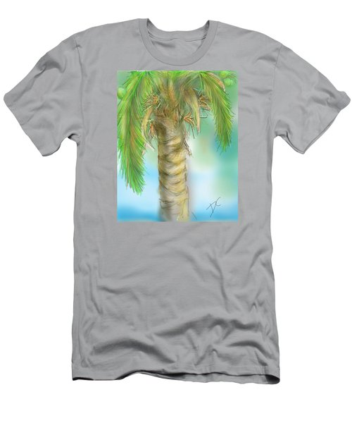Palm Tree Study Two Men's T-Shirt (Athletic Fit)