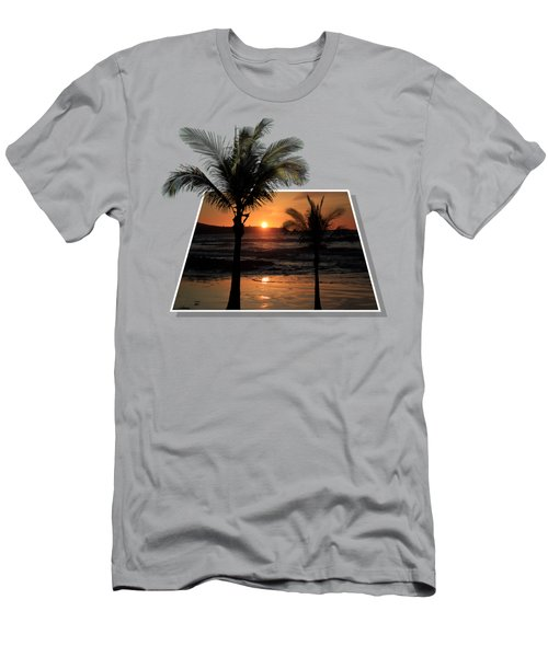 Palm Trees At Sunset Men's T-Shirt (Slim Fit) by Shane Bechler