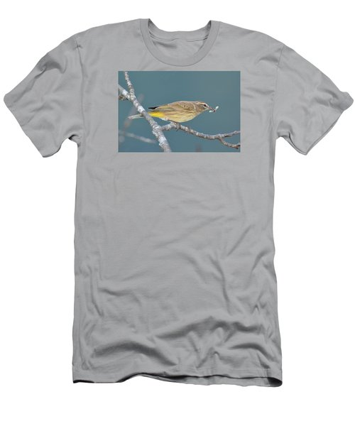 Palm Warbler Lunch Men's T-Shirt (Slim Fit) by Alan Lenk