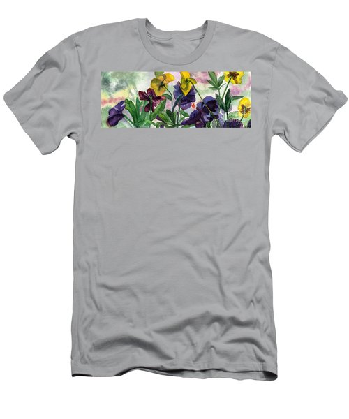 Pansy Field Men's T-Shirt (Athletic Fit)